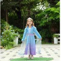 Jual Beli baju frozen elsa 2 / Kostum Anak Elsa Frozen 2 Princess CG83 - Size 100