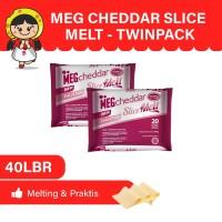 MEG Cheddar Slice Melt 20 Slices - Twin Pack