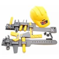 IM 4011 Mainan Anak Tools Set Alat Perkakas Tukang Bangunan (Preloved)