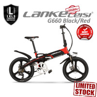 FREE ONGKIR Lankeleisi Sepeda Elektrik Lipat Luxury Edition 48V G660 - Merah