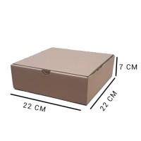 Kardus   Box   Karton Packing (22x22x7) Tipe Dus Pizza Tebal 3 mm