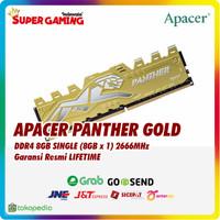 Ram Apacer Panther Gold 8GB SINGLE (8GB x 1) 2666 Promo Gaming Murah