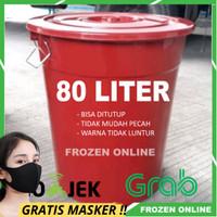 Ember 80 Liter Plastik Warna Merah / Gentong bak air mandi Warna SUPER