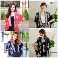 Bolero Batik Cap wanita. Atasan outer blouse batik modern - Foxy