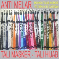 Tali Masker Tali Hijab Tali Pengencang Masker Pengait Masker