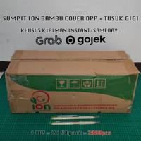 Grosir! Sumpit Bambu ION Cover Plastik + Tusuk Gigi @2000pcs
