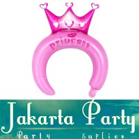 Balon Bando Karakter Crown Princess / Balon Foil Bando Anak