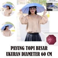 Payung Topi / Topi Payung / Payung Kepala diameter 60cm