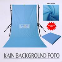 Background Polos Foto Studio Kain Meteran 100x240 cm Biru Muda
