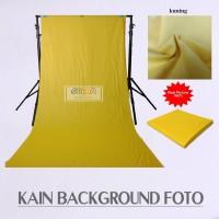 Kain Studio Background Foto Meteran Polos 100x240 cm Kuning