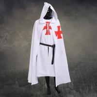 Kostum knight templar ksatria crusadder jubah dan pakaian halloween
