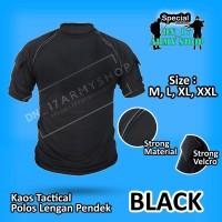 kaos tactical hitam polos/non sablon katun
