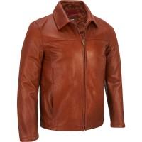 jaket kulit warna coklat tua asli domba super