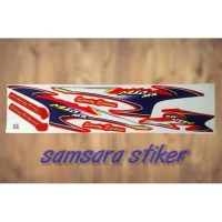 Stiker striping Motor Mio Sporty mx variasi merah