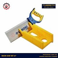 Back Saw LAKONI PRO 12 / Gergaji Pigura Manual 12inch / Mitre Box