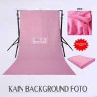 Kain Meteran Polos Foto Background Produk Lebar 240cm - Pink