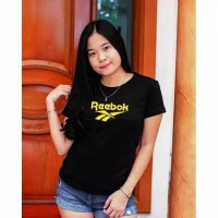 Baju Senam Fitnes Gym Running OLAHRAGA WANITA / Ladies Lengan Pendek