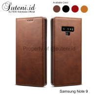 Leather Flip Case Samsung Galaxy Note 9 Note9 Cover Casing Kulit Hard
