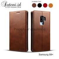 Leather Flip Case Cover Casing Kulit Samsung Galaxy S9 S9+ S9plus plus