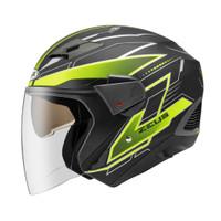 Helm ZEUS ZS 611 Z611 Matt Black TT18 Yellow