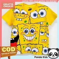 Panda Kids Baju/ Kaos Anak Laki-Laki Lengan Pendek Motif Spongebob