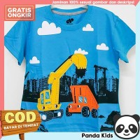Panda Kids Kaos Anak Laki-Laki Lengan Pendek Motif Crane Turkis - 1-2 tahun