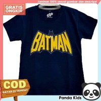 Panda Kids Kaos/ Baju Anak Laki-Laki Lengan Pendek Motif Batman Navy - 1-2 tahun