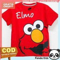 Panda Kids Baju/ Kaos Anak Laki-Laki Lengan Pendek Motif Elmo Red