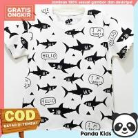 Panda Kids Baju/Kaos Anak Laki-Laki Lengan Pendek Motif Ikan Fullprint - 1-2 tahun