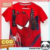 Panda Kids Baju/ Kaos Anak Laki-Laki Lengan Pendek Motif Spiderman - 1-2 tahun