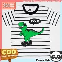 Panda Kids Baju/ Kaos Anak Laki-Laki Lengan Pendek Motif Dino Salur - 1-2 tahun
