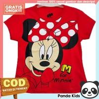 Panda Kids Baju/ Kaos Anak Perempuan Lengan Pendek Motif Minnie Red