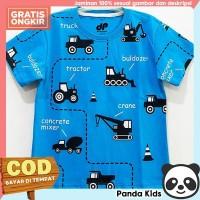 Panda Kids Kaos/ Baju Anak Laki-Laki Lengan Pendek Motif Beco Blue