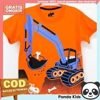 Panda Kids Baju/Kaos Anak Laki-Laki Lengan Pendek Motif Beco Orange