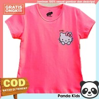 Panda Kids Baju/ Kaos Anak Perempuan Lengan Pendek Motif Hello Kitty