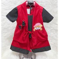 Stelan baju rompi anak fashion baby untuk perempuan umur 0-1tahun an