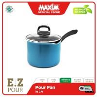 Maxim New EZP Panci Teflon Anti Lengket 18cm Pourpan + Tutup Kaca