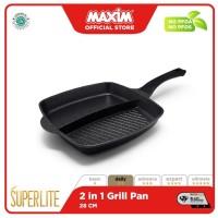 Maxim Superlite Grill Pan Serbaguna 2in1 28cm