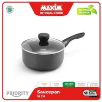 Maxim Priority Panci Teflon Anti Lengket 18cm Saucepan + Tutup
