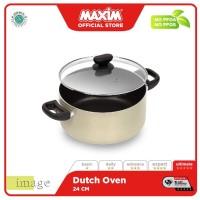 Maxim Image Panci Teflon Anti Lengket 24cm Dutch Oven + Tutup