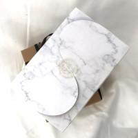 Paper box Snack Box Gift Box Dus Roti 17x11x8cm. Marble pattern