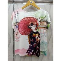 Atasan Kaos Tasya Blouse Super Jumbo T-Shirt Casual Wanit