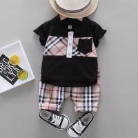 Baju Setelan Anak Cowok/Laki-laki 1-4 Thn Model Blueberry Import HQ