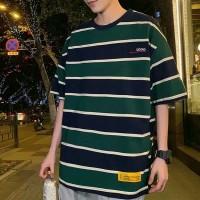 KAOS IMPORT T-SHIRT PRIA KOREA GARIS ORIGINAL M-XXXL/3XL TF21
