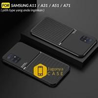 Case Samsung A11 A31 A51 A71 Case Magnetic IQS Design - SAMSUNG A11, Hitam