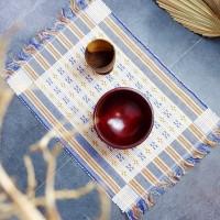 Liope | placemat alas meja makan tatakan piring 50x35 cm kain shabby