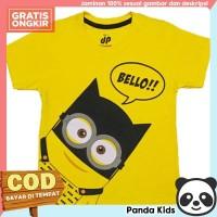 Panda Kids Baju/Kaos Anak Laki-Laki Lengan Pendek Motif Minions Bello