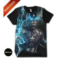 Baju Avengers Captain America Dewasa Kaos Superhero Marvel #REG-63
