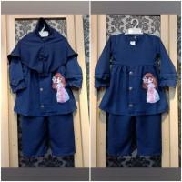 Baju Anak Perempuan Usia 2-3 Tahun ZAHRA SET KIDS Setelan Anak Muslim