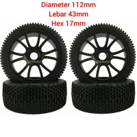 Ban rc buggy 1/8 hex 17mm